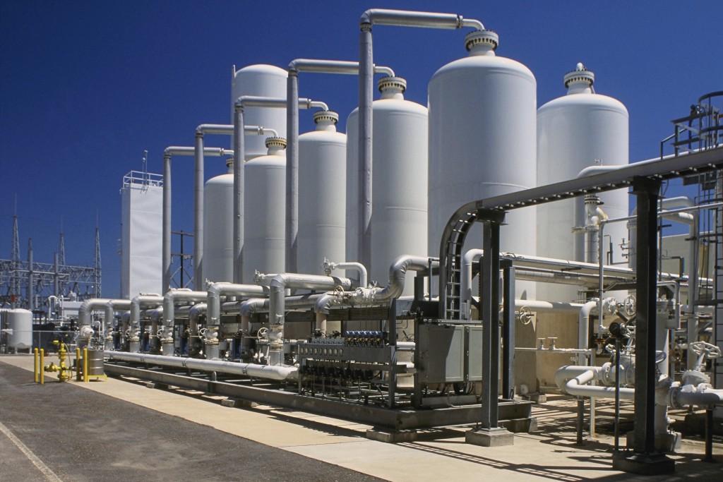 Corpus Christi, Texas, USA --- Oil Refinery Tanks --- Image by © Royalty-Free/Corbis